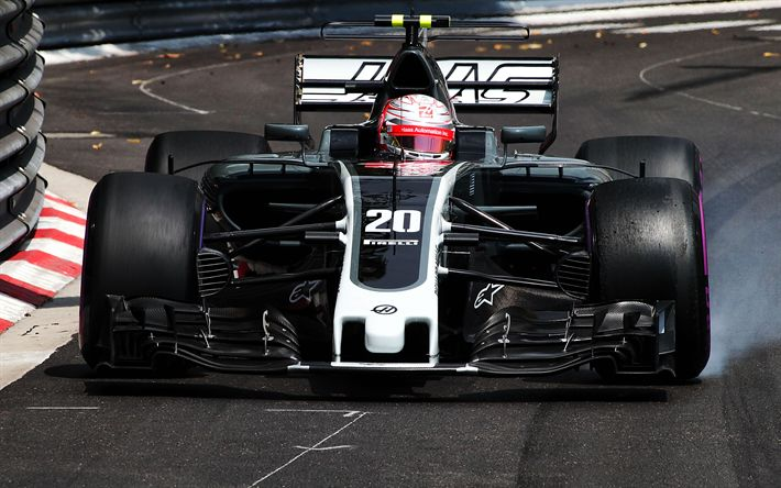 Download wallpapers Kevin Magnussen, Haas F1 Team, 4k, Formula One, F1, 2017 cars, Formula 1, VF17