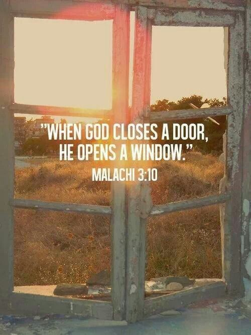Look for the open window, stop staring at the closed door ...
