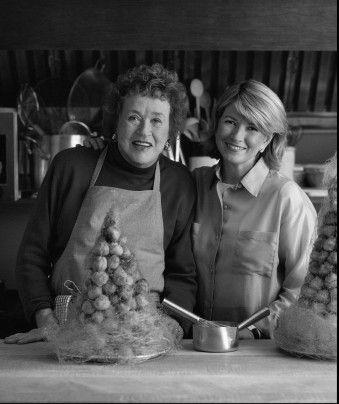 Julia Child & Martha Stewert