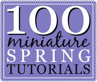 From mini Easter eggs to straw hats - lots of tutorials for making pretty, Spring-theme dollhouse miniatures.