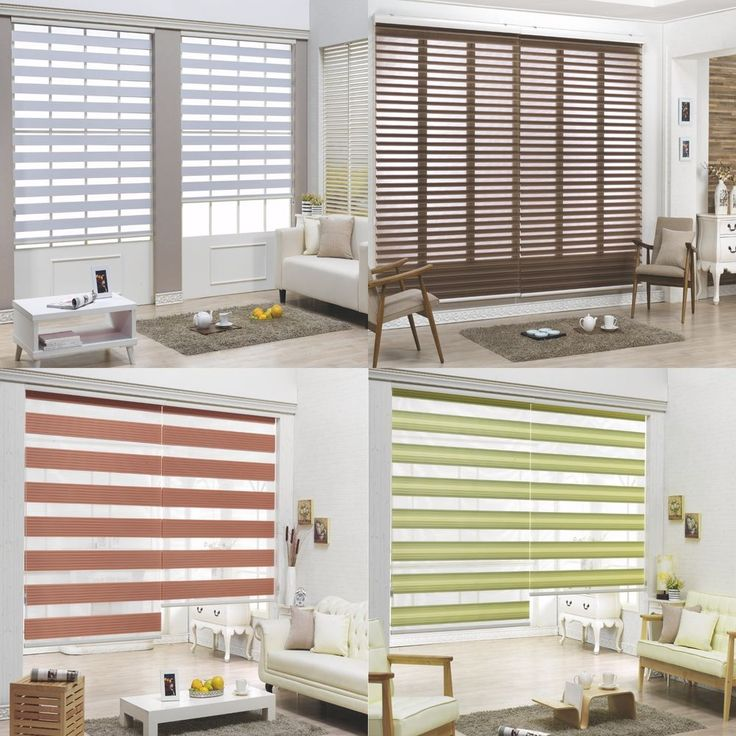 B C Double Roller Blind Zebra Shade Home Window Blind Custom Made To Order Bc
