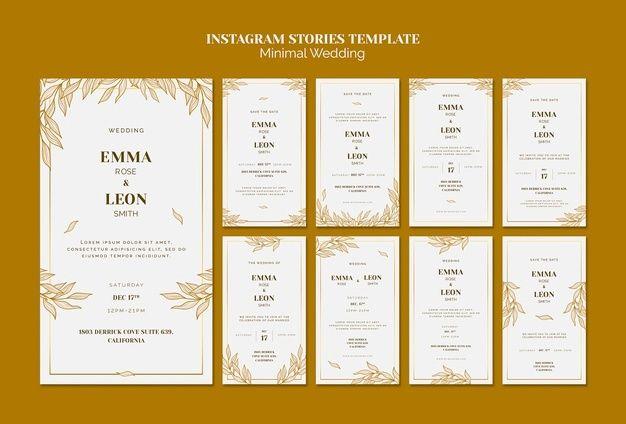 Download Wedding Instagram Stories Template For Free Instagram Story Template Instagram Story Instagram