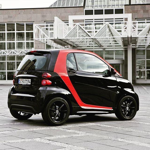 Smart Black Red Smart Smartfortwo Smart451 Smartcar Cool City Car Benz Smart Smart Car Smart Fortwo