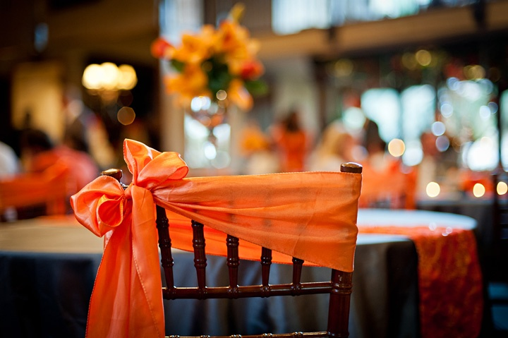 Instead of the way bows are usually wrapped around chairs