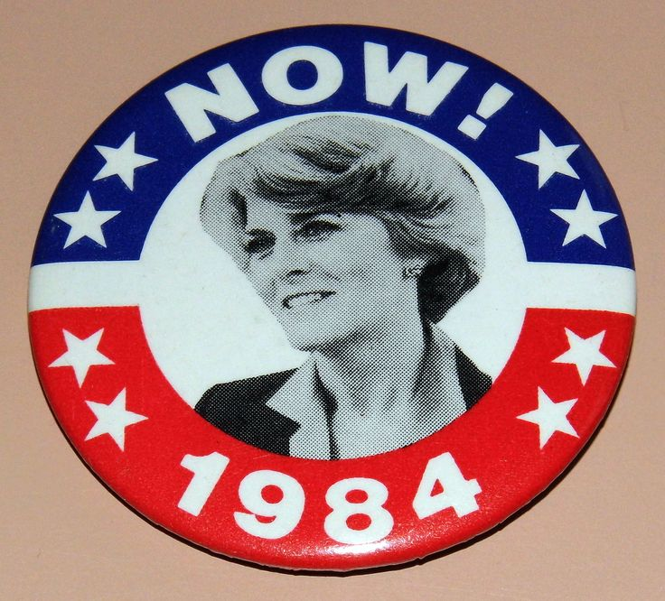 https://flic.kr/p/zmwxdJ | Vintage Geraldine Ferraro For Vice President 1984 Campaign Pinback Button