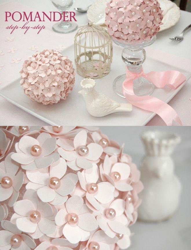 DIY esfera con flores para decorar primera comunión