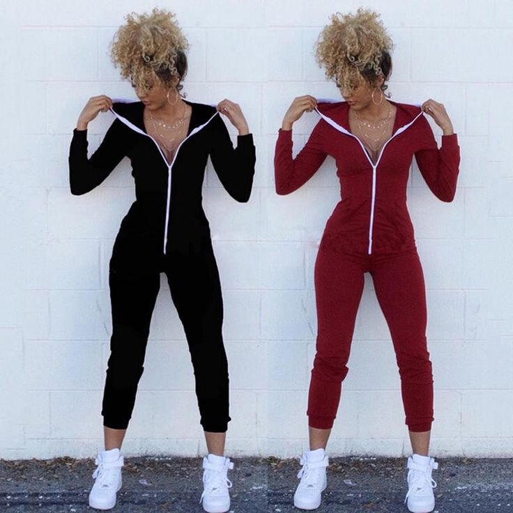 Women Winter Jumpsuits Long Sleeve Hooded Outfits zipper Cotton Sexy Club Wear Bandage Bodycon jumpsuit