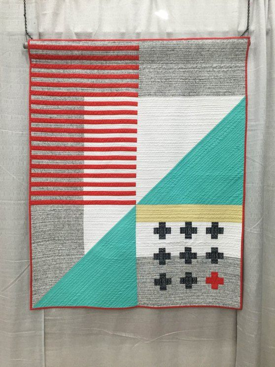 Quilt Guild Demo Ideas : Love these modern designs from QuiltCon, Modern Quilt Guild, 2015. ?Emergent? by Kari ...