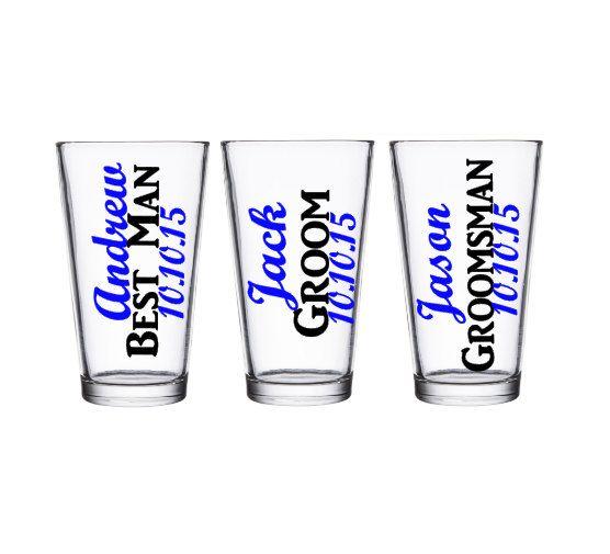 Groomsman Pint Glass, Groomsman Gift, Best Man Pint Glass, Bridal Party Gifts, Groomsman Gifts by SiplySophisticated on Etsy