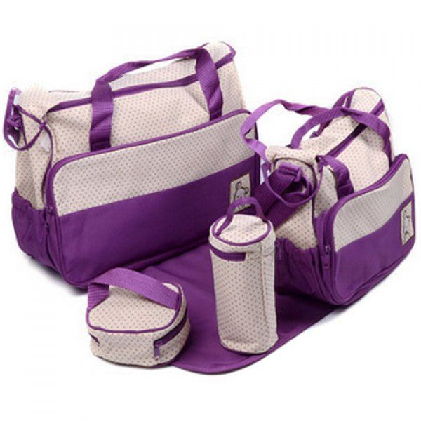 Wholesale Casual Color Matching and Bear Cub Design Women's Diaper Bag Only $11.30 Drop Shipping   TrendsGal.com