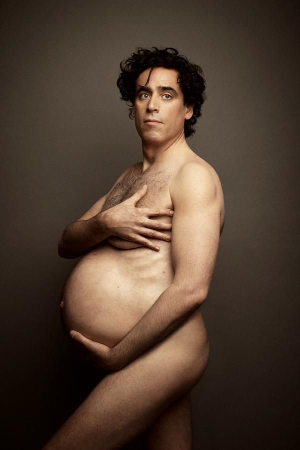 Stephen Mangan strips off to recreate pregnant Demi Moore cover - and it's not for the faint-hearted