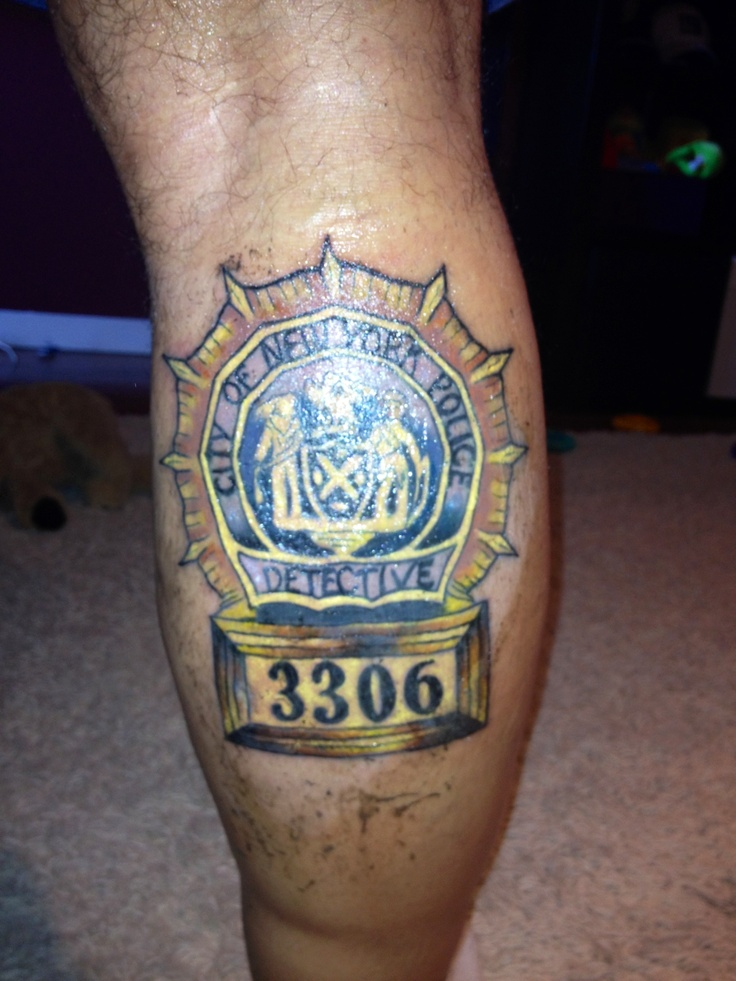 Nypd tattoo 4015 nypd pinterest for Law enforcement memorial tattoo