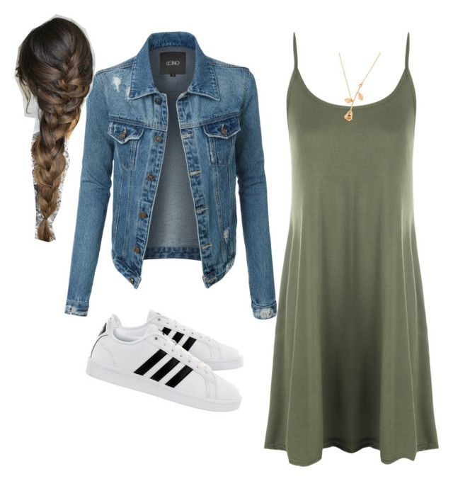 """""""Spring is near"""" by glitterandesign ❤ liked on Polyvore featuring LE3NO, WearAll and adidas"""