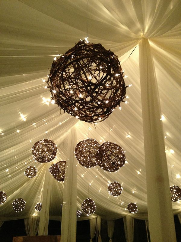 Vine Balls In 2019 Grape Vines Party Tent Decorations