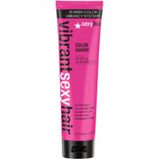 #Sexy Hair Vibrant Colour Guard Post Colour #Protect colour-treated hair with Sexy Hairs Vibrant Color Guard Post Color Sealer, the last step in your haircare regime to lock colour integrity. Infused with Rose and Almond Oils, the fortifying treatment expertly seals in colour whilst neutralising chemicals from processing to keep your colour protected for longer. The soothing and anti-inflammatory properties of Rose Oil keep the hair and scalp feeling soft and comfortable, whilst Almond oil…