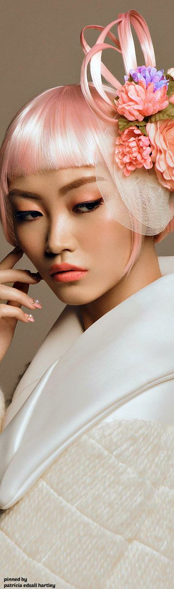 Pink / Asian model / Beauty Editorial