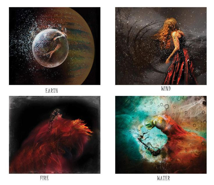 The four elements  The ancient Greeks believed that everything was made up of four elements: Earth, Water, Air and Fire.