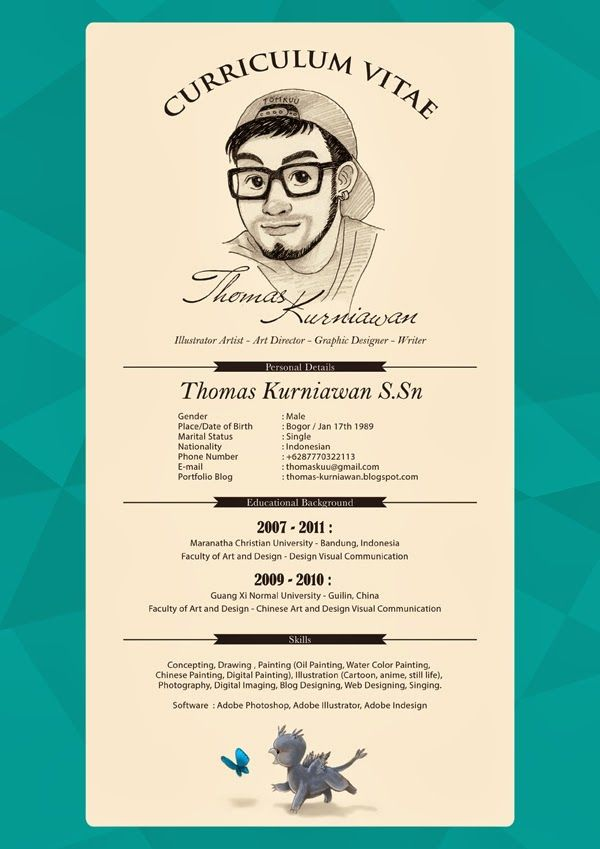 98 best cv images on Pinterest Resume design, Design resume and - illustrator resume