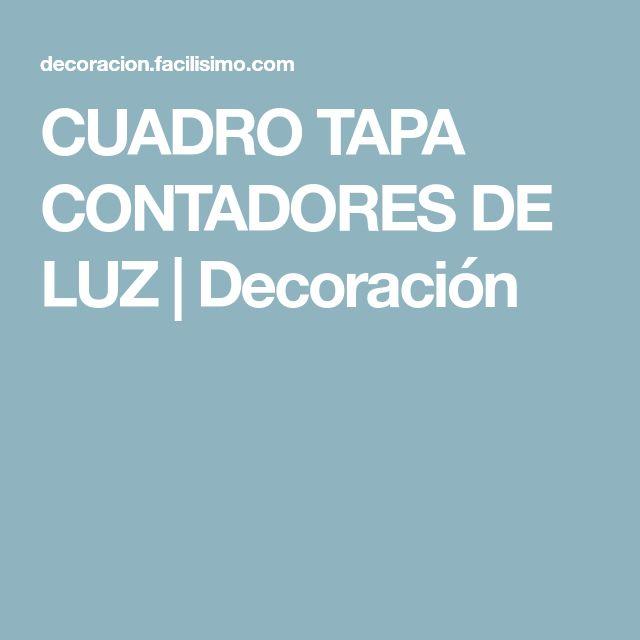 CUADRO TAPA CONTADORES DE LUZ   Decoración
