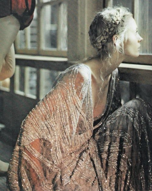 antique sequins and beautiful photography. I just love the mood and her stringy hair