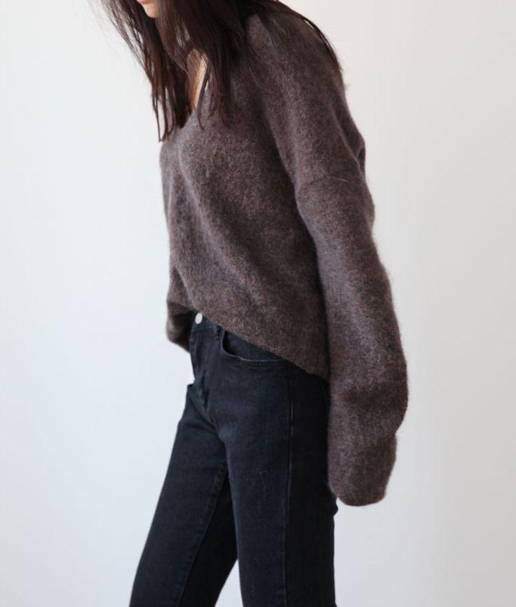 sweater and jeans winter outfit