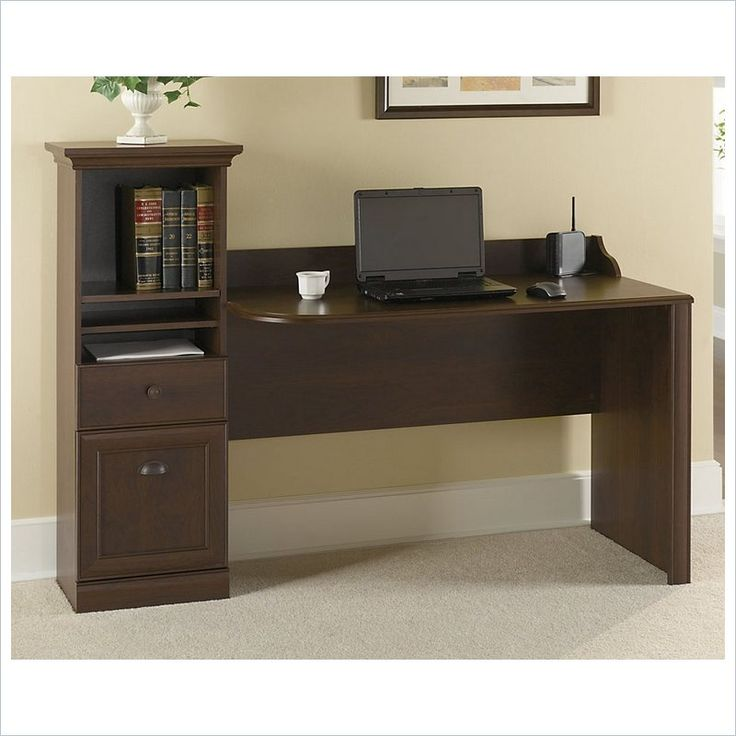 Bush Barton Computer Workstation Desk in Bing Cherry