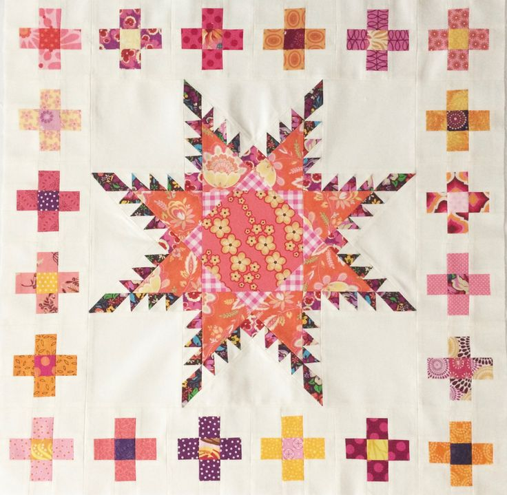 Quiltmanufaktur -BERNINA Medaillon Quilt - 1.Border -Kreuze 2