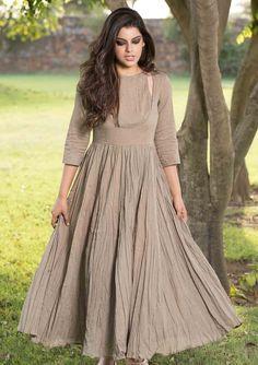 oragnic cotton gathered dress dresses JSP