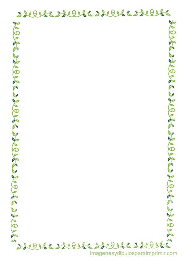Bordes con hojas para imprimir-Imagenes y dibujos para imprimir
