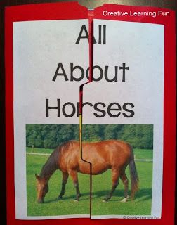 FREE All About Horses Lapbook  - Pinned by @PediaStaff – Please Visit  ht.ly/63sNt for all our pediatric therapy pins