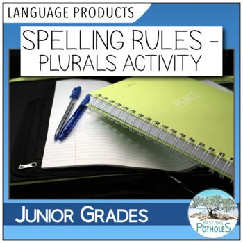 Spelling Rules - plurals - mini lesson #writing #language #literacy #spelling #mini #lesson #activity #printable #centres #centers #teaching #teach #junior #grades