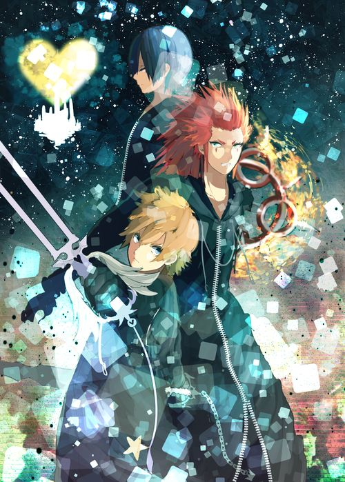 Axel, Xion and Roxas from Kingdom Hearts