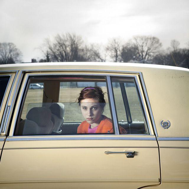 Cig Harvey, 'The Pale Yellow Cadillac, Sadie, Portland, Maine,' 2010, Robert Klein Gallery