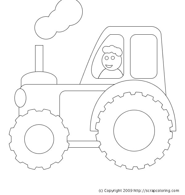 108 best farm embroidery images on pinterest drawings for Tractor template to print