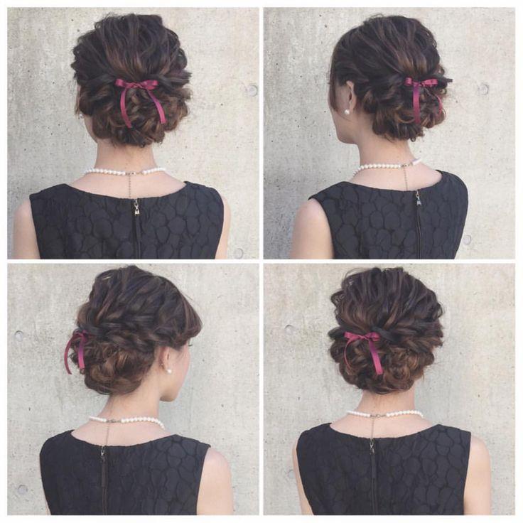 hairarrange♡  #ヘアアレンジ #ヘアセット #結婚式 #二次会 #ブライダル #ウェディング #東京 #表参道 #青山 #ヘアアクセサリー #りぼん