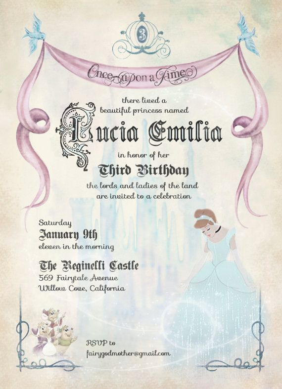 Vintage Fairytale Cinderella Birthday by dSignsAllKinds on Etsy