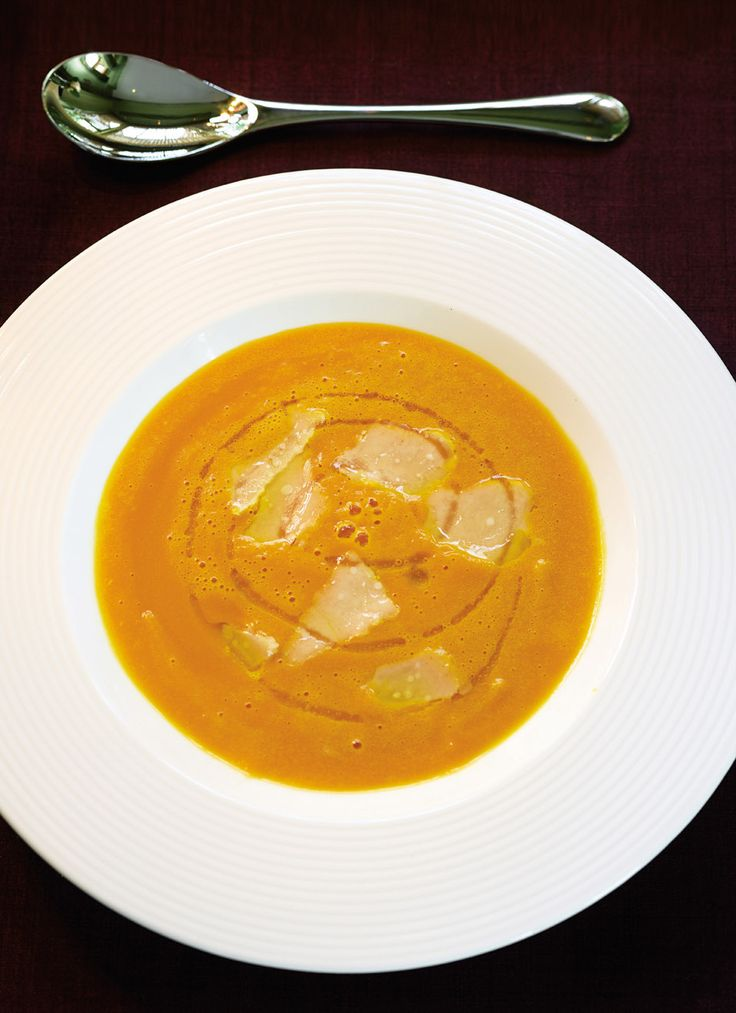 Parmesan rind adds fantastic flavour to this rich pumpkin soup recipe.