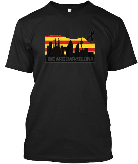 We Are Barcelona T Shirt Pray Black T-Shirt Front