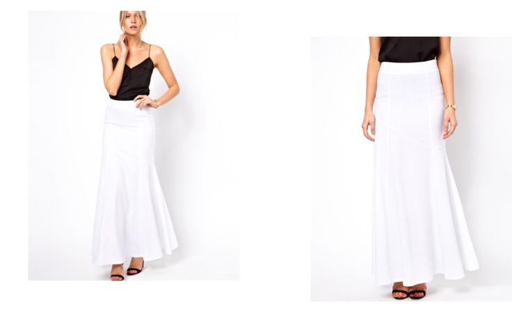 Maxi Skirt in Linen white
