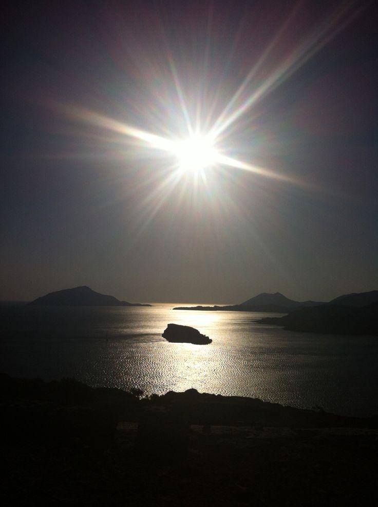 Sunset in Cape Sounion, Greece
