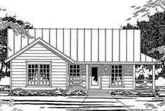 Plan 31047D: Compact Country-Style House Plan
