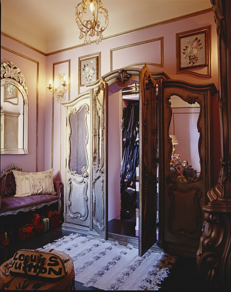 """""""Like in 'The Lion, the Witch and the Wardrobe', this armoire opens to reveal a secret world, a hidden room that I use for a closet."""""""