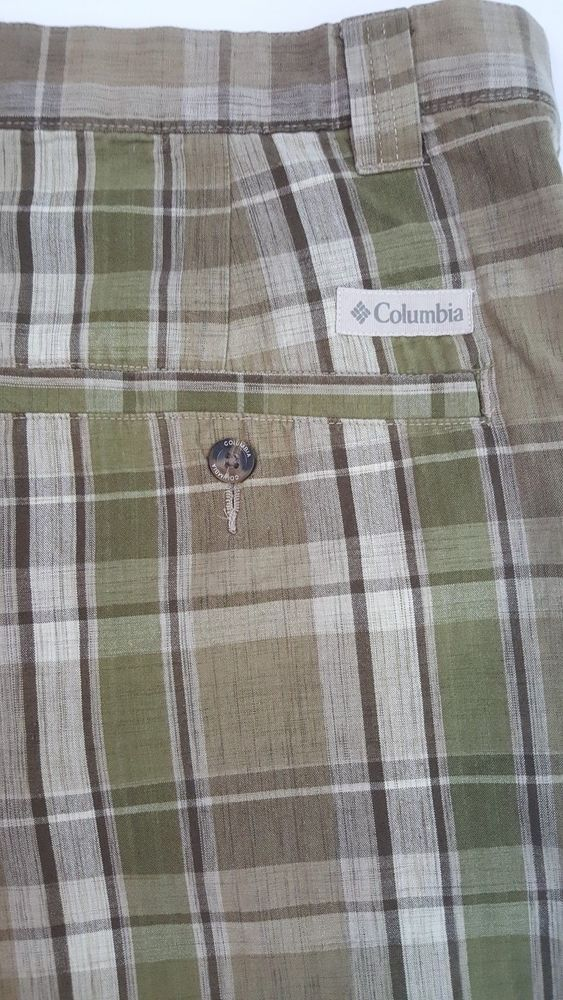 Columbia Men's Plaid Shorts Size 42 #Columbia #FlatFront