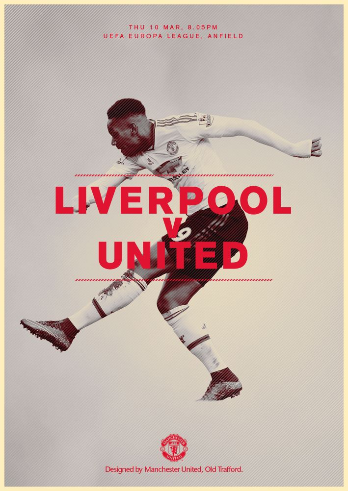 Match poster. Liverpool v United, 10 March 2016. Designed by @manutd
