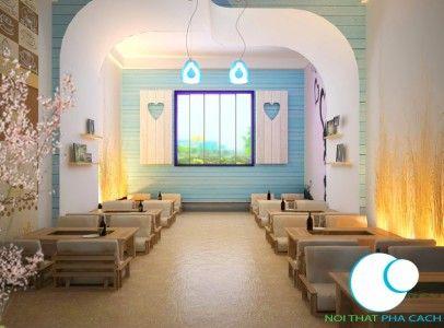 Thiết kế nội thất quán trà sữa Q8