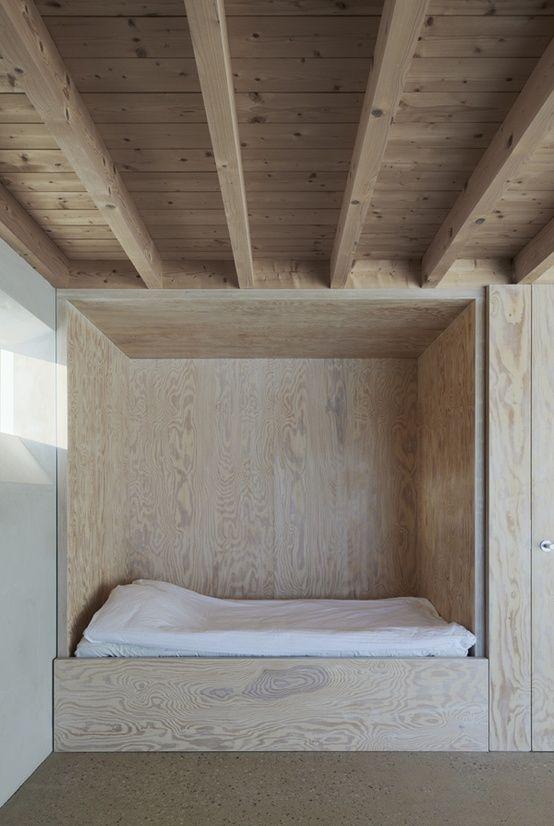 Built in bed . . .