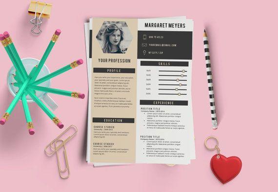 Elegant Résumé Template. 2 Pages Resume  Cover por LaurelResume