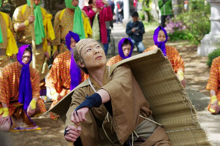 04 Akita Hachirogata town Gannin Dance Japan 2015 2015年5月5日 八郎潟町 一日市神社 大人願人踊り