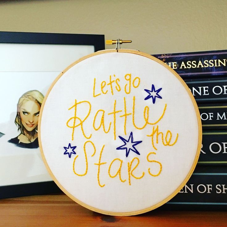 Rattle the Stars, Throne of Glass Embroidery Pattern, Aelin, Sarah J Maas by iStitchYA on Etsy https://www.etsy.com/listing/474438521/rattle-the-stars-throne-of-glass