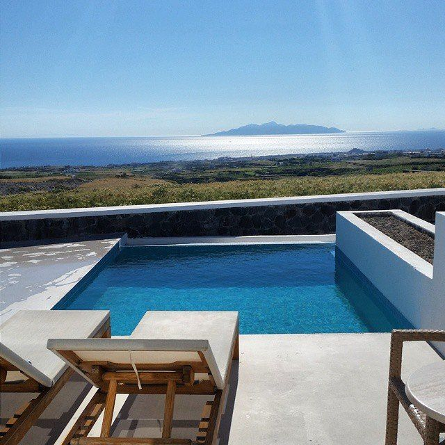 "Happy guest molz21 @Instagram shares happy moments! ""35 degrees and sunny today… This is the view from our private pool at Astro Palace Hotel and Suites. Could I ask for more?""  #pool #AstroPalace #Santorini #island #sea #sun #summer #relaxing"